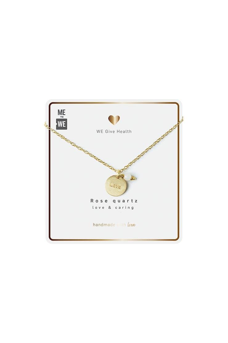 Intention necklace - Rose quartz - loveView 2