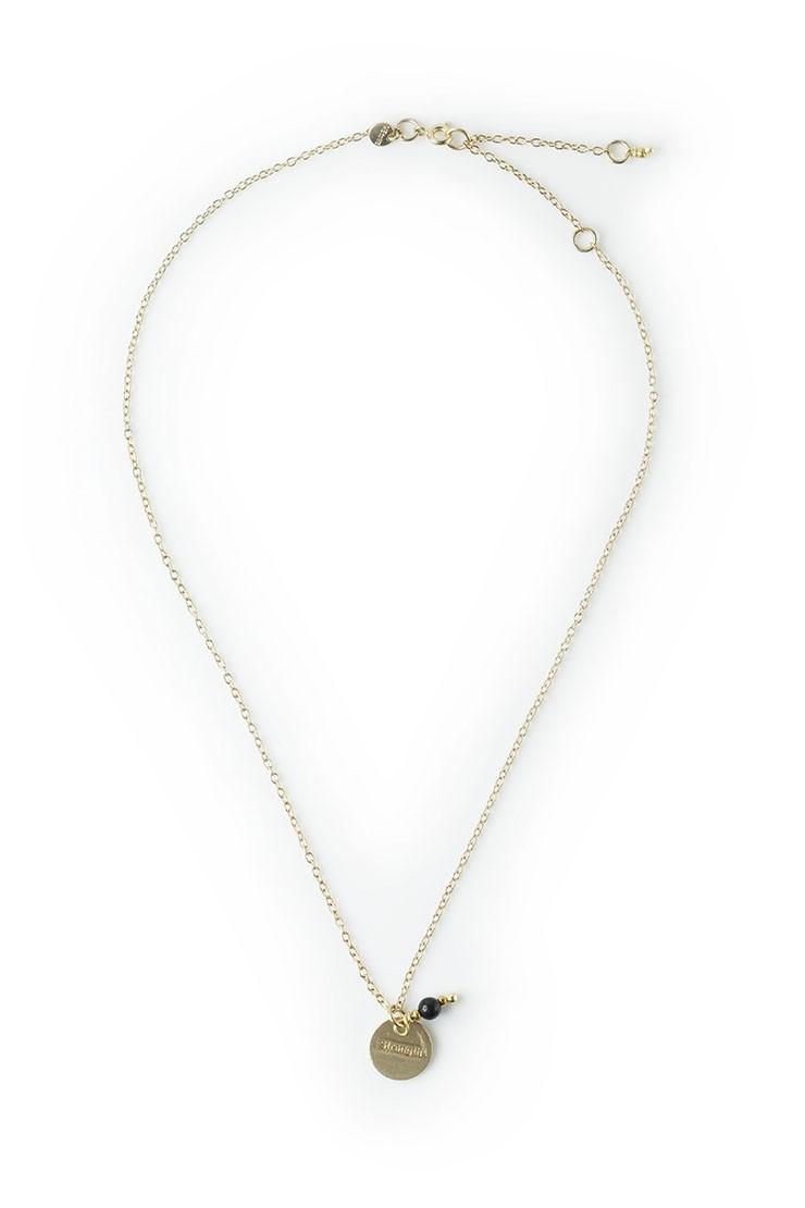 Intention necklace - Black jasper - strength