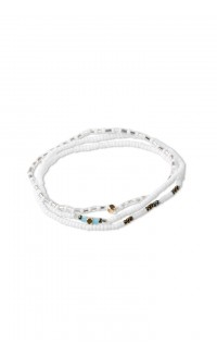 Triple bracelet set – white
