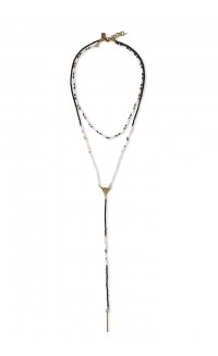 Convertible lariat necklace –  blush