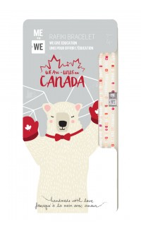 Canadian Cute Critters Rafiki Bracelet – Polar Bear