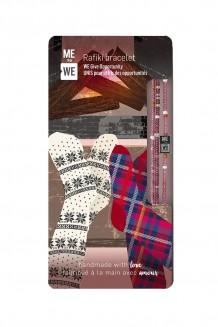 Cozy cabin Rafiki bracelet - warm & fuzzy