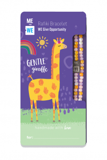 Cute critter Rafiki bracelet - gentle giraffe (for ages 3+)