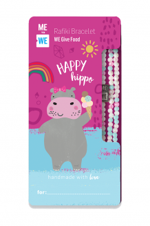 Cute critter Rafiki bracelet - happy hippo (for ages 3+)
