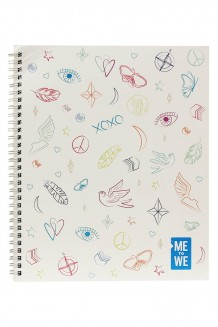 Me to We Notebook - White Graphic - White