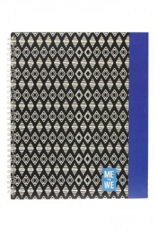 Me to We Notebook - Triangle Blue - Tribal Blue