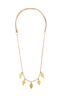 Diamond Paillette Necklace - Gold
