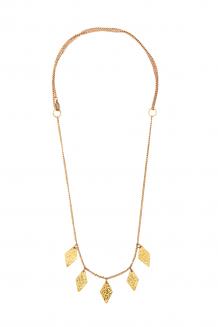 Diamond Paillette Necklace - Gold