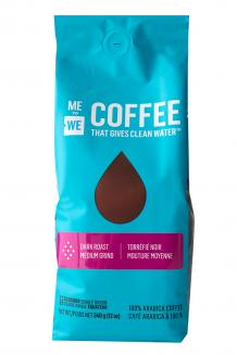 ME to WE Coffee That Gives Clean Water™  Dark Roast - Medium Grind