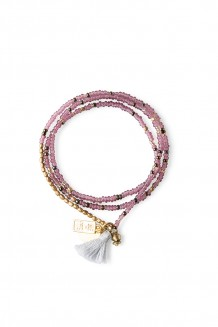 Brass Paillette and Tassel Rafiki - Mauve