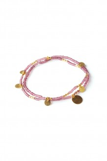 Layered Paillette bracelet set - Purple