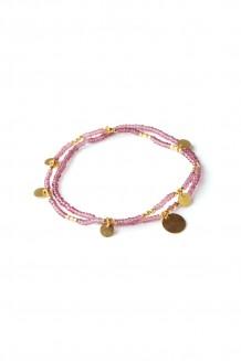 Layered Paillette bracelet set - Purple