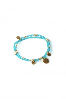 Layered Paillette Bracelet Set - Teal