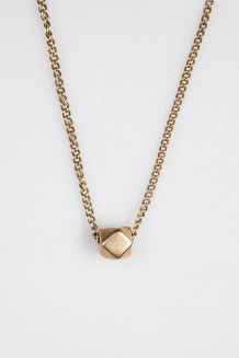 Faceted Brass Necklace