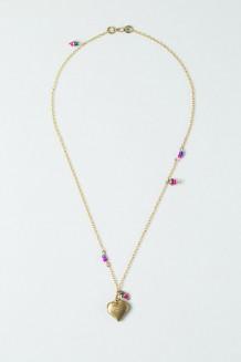 Colour Drop Charm Necklace – Heart
