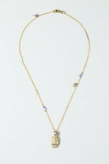 Colour Drop Charm Necklace – Owl