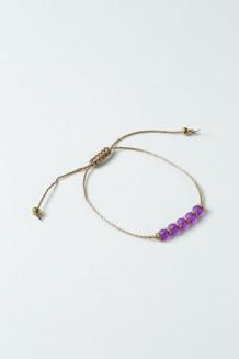 Frosted Bangili Bracelet - Purple - Purple
