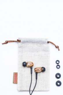 LSTN – Bowery Real Wood Earbuds - Zebra
