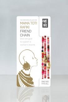Mama Toti Rafiki Bracelet - Red & Gold  - Red & Gold