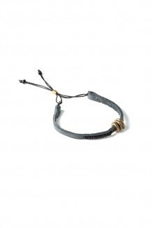 Banded Leather Bracelet - Grey