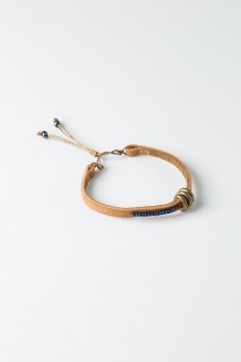 Banded Leather Bracelet - Nubuck