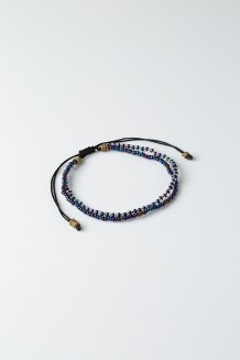 Beaded Duo Bracelet - Indigo