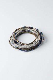 Hakuna Matata Bracelet Set - Hematite Blue - Blue