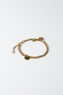 Paillette Chain Bracelet - Brass
