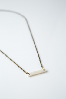 Savannah Bar Necklace - White