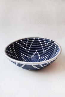 Indego Africa – Plateau Basket - Metallic Blue