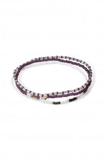 Triple bracelet set –  purple