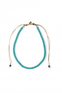 Beaded choker – teal