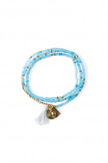 Brass Paillette and Tassel Rafiki - Sky Blue