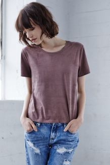 Radlands Suede Tee - Peppercorn - Peppercorn
