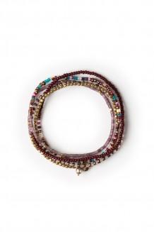 Heshima five wrap Rafiki bracelet - purple
