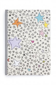 Me to We Journal with Ribbon - Stars