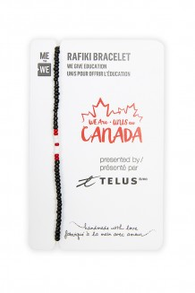 TELUS WE are Canada mini Rafiki bracelet