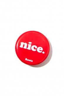 Roots x WE – nice button