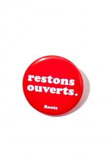 Roots x WE –  Bouton de restons ouverts