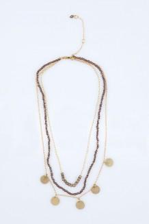 Triple Layer Paillette Necklace