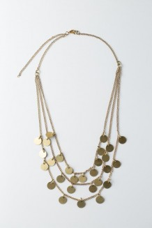Paillette Necklace - Gold
