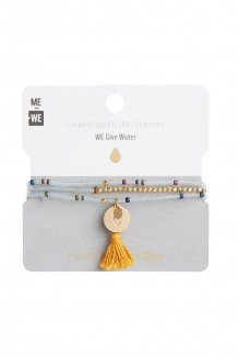Brass paillette and tassel Rafiki - water