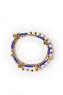 Jua faceted Rafiki bracelet - royal blue