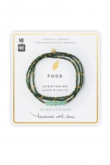 Semiprecious collection - three-wrap Rafiki - aventurine (matte)