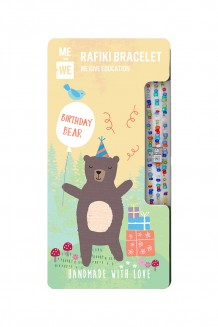 Cute Critters Rafiki Bracelet – Birthday Bear
