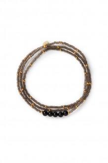 Semiprecious collection – three-wrap Rafiki – black jasper
