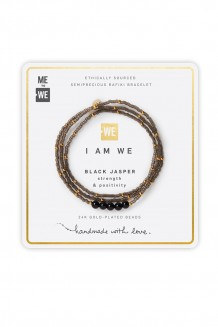 Semiprecious collection – three-wrap Rafiki – black jasper
