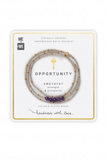 Semiprecious collection – three-wrap Rafiki – amethyst