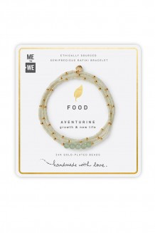 Semiprecious collection – three-wrap Rafiki – aventurine