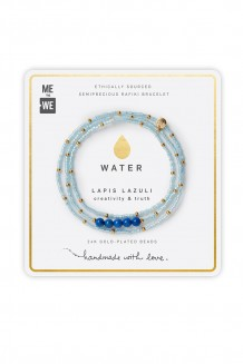 Semiprecious Collection – Three-Wrap Rafiki – Lapis Lazuli